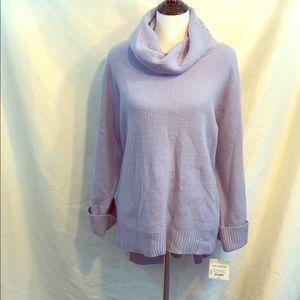 High low Cowl next plus size lavender sweater xxl